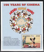 SELLOS TEMA CINE. MALDIVAS 1996 HB368 2MH DISNEY MICKEY MOUSE 100 AÑOS CINEMA