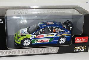 1/18 Ford Focus WRC BP Castrol Abu Dhabi Winner Rally Japan 2007  M.Hirvonen