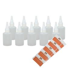 Ovale Liquid-Flaschen 10 x 50ml - Flachmann, Kunststoffflaschen aus weichem HDPE