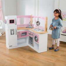 KidKraft Wooden Play Kitchen Pretend Play Kids Girls Toy Grand Gourmet Corner