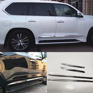 For Lexus LX570 2016 2017 2018 ABS Side Door Body Molding Cover Trim