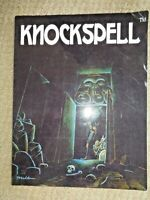 First Issue KNOCKSPELL Magazine 2009 Volume #1 Matt Finch Fantasy Gaming Games
