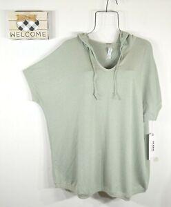 RBX Women's Active Green Plus Size 2X Short Sleeve Hoodie Sweatshirt NWT