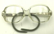 Vintage Kids Lamy Noel 289 Small Transparent Square Sunglasses Frames France
