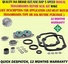 FOR VW FOX POLO LUPO GOLF 02T/0AF/0AP 5SPEED MANUAL TRANSMISSION REPAIR SEAL KIT