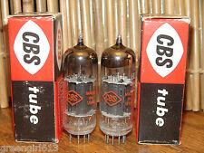 2 Vintage CBS 12BZ7 Black Plates 1960 Vacuum Tubes Results= 2025/1985 1900/1800