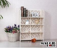 New White Hollow Carved Kitchen Bathroom Storage shoes Rack book shelves 8060