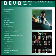 DEVO - ARE WE NOT MEN + DEVO LIVE CD Classic 80's *NEW*