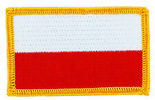 FLAG PATCH PATCHES poland polska polish   IRON ON EMBROIDERED SMALL