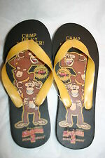 Girl Boy Black Madagascar Flip Flops Slip-On Size LARGE 3-4 Cartoon