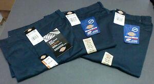 DICKIES- Boys' Flat Front Pant School Uniform - NAVY