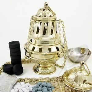 2979Handmade Gold Censer out of Brass church incense burner distiller кадильница