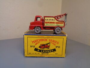 MATCHBOX LESNEY No 13C VINTAGE THAMES WRECK TRUCK NMINT IN RARE A LESNEY BOX