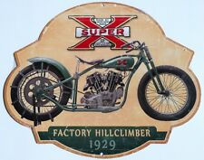 SUPER X EXCELSIOR FACTORY HILLCLIMBER 1929. ALL WEATHER METAL SIGN