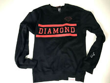 Diamond Supply Co Sweatshirt Small Black Red Pullover Mens Crewneck Company cn