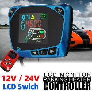 Car Air Diesel Heater LCD Switch Parking Controller 4 Button Remote Control UK