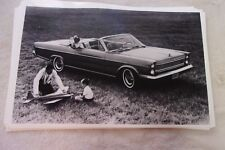 1965 FORD GALAXIE CONVERTIBLE  11 X 17  PHOTO  PICTURE