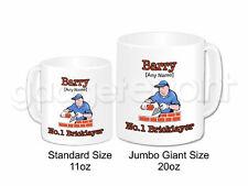 Personalised Gift Brick Layer Jumbo Mug Construction Building Dad Work Present
