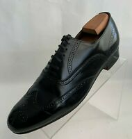 John Weitz Oxford Wingtip Brogue Mens Black Leather Lace Up Shoes Size 10D