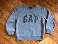 GAP Kids Boy's Size S (6-7 years) Sweatshirt Gray Long Sleeve Logo Crew Neck