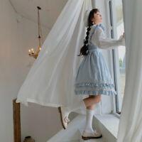 Lolita Dress Lace Ruffle Frill Japanese Cute Jumper Skirts Kawaii Maid JSK Girls
