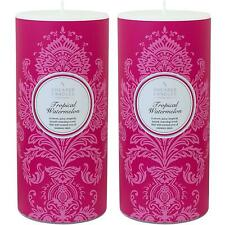 2 x Shearer Candles Scented Pillar Candle, Tropical Watermelon - 100 Hours Burn