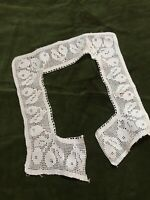Antique Lace Collar 1920s Cotton French Crochet Salvage Vintage
