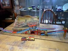 Vintage 1960s Technofix coalmine with tin wind-up engine