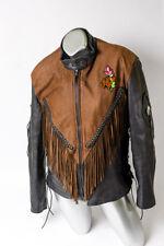 Antelope Creek Leather Womens Biker Jacket w/ removable liner vest SIZE L