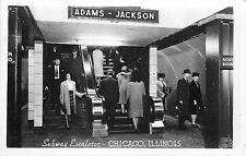 "CHICAGO IL ""ADAMS-JACKSON"" SUBWAY ESCALATOR TO STATION 1950'S RPPC P/C"