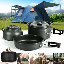 2-3 Person Kochtopf Camping Kochgeschirr Outdoor-Töpfe Bratpfanne Kettle Set NEU