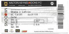 Football Ticket>GHANA v LATVIA @ Milton Keynes June 2010