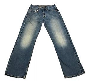 Vintage American Eagle 29 x 32 Loose Blue Jeans Classic Cotton Denim Men's