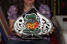 Rat Fink Hot Rod Racing Ford Chevrolet Mopar Gas Oil Dodge Porcelain Metal Sign
