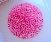 JEDI VIVID NEON PINK Spinel Rounds Lot 262 Pieces 1.2 mm   FREE INSURED SHI