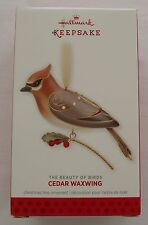 Hallmark 2013 Beauty of Birds #9 Series Cedar Waxwing Christmas Ornament