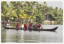 (82123) Postcard India Kerala Backwaters Boat #11 - un-posted