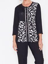 BNWT LADIES  CLARITY THREADZ BLACK WHITE CARDIGAN TOP Size LARGE 14 16 RRP $89