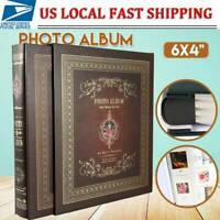 Photo Album 4x6 500 Photos Memory Scrapbook Family Wedding Baby Pictures Book US