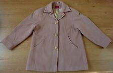Les Essentiels de Daxon Ladies Vintage Wool Cashmere Blend Camel Coat Size UK 16