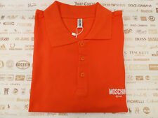MOSCHINO Polo Shirt Plain Solid Red Size XL Pique Swim Top BNWT RRP£70