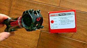 Niner RDO Stem XC Mountain Bike 1 1/8, 31.8mm 90mm  +/- 6 degree Black/Red