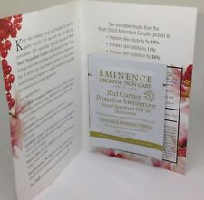 12 EMINENCE RED CURRANT PROTECTIVE MOISTURIZER SPF30 TRAVEL SAMPLE PACKS ORGANIC