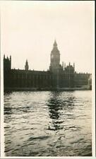 Big Ben & Houses of Parliament 1930 from Yacht 'Paulina' Beaumont-Thomas   QR84