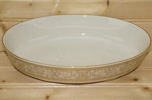 "Franciscan Renaissance Gold Footed Oval Vegetable Serving Bowl, 9"" x 6 1/2"""