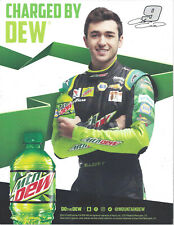 """2019 CHASE ELLIOTT """"CHARGED BY DEW"""" #9 NASCAR MONSTER ENERGY CUP POSTCARD"""