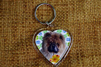 Chow Chow Gift Keyring Dog Key Ring heart shaped gift Xmas Mothers Day Gift