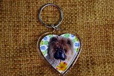 Chow Chow Gift Keyring Dog Key Ring heart shaped gift Valentine