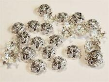 F493...PACK OF APPROX. 30 SILVER PLATED BEAD CAPS - 12mm