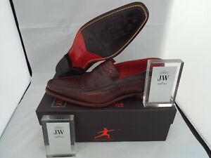 JEFFERY WEST Checked Melly Slip On Shoes 🌍 Size 8.5 🌎 RRP £295+ 🌏 UK FREEPOST